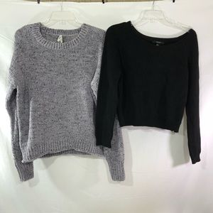 Forever 21 Black and Mudd Gray Sweaters